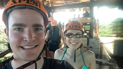 Mexican Honeymoon at Vidante Resort in Maya Riveria  - Zipline Xplor Fuego 7/11/2017