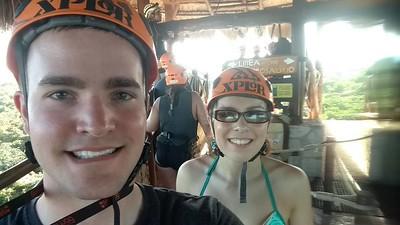 Mexican Honeymoon at Vidante Resort in Maya Riveria  - Zipline Xplor Fuego 7/11/2017