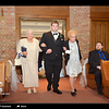 John Robert escorting his grandmothers, Dottie and Mary Ann up the aisle