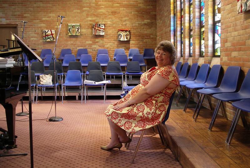 Margie, waiting to sing