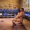 Margie, waiting to sing