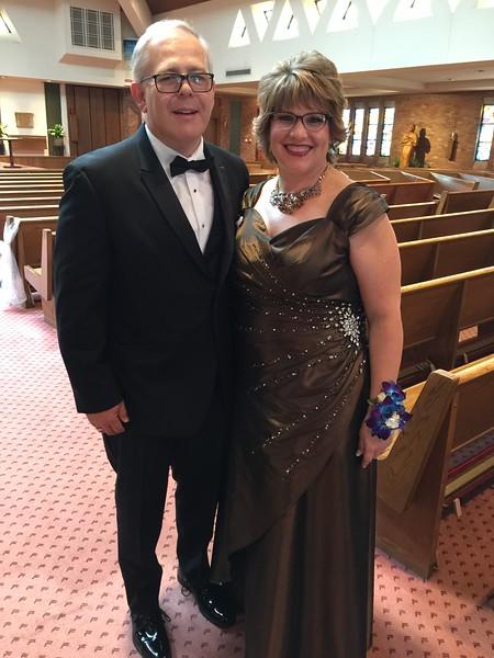 The proud parents of the bride