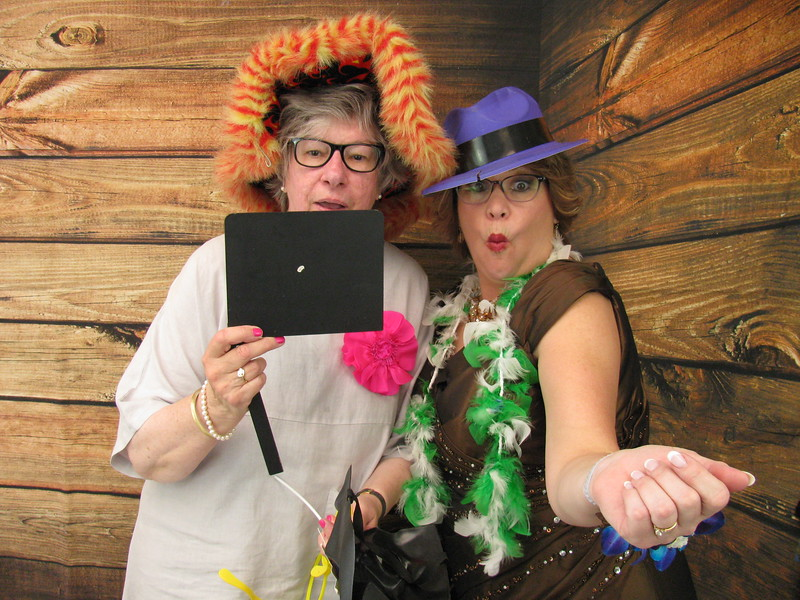 Photo Booth Fun:  Aunt Lou and Fran