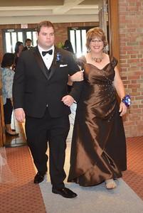 John Robert escorting me up the aisle