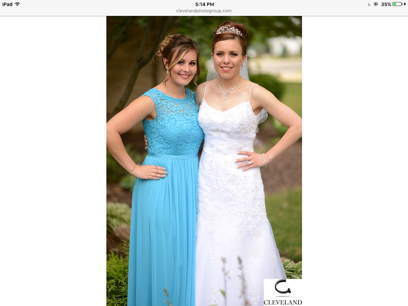 Maid of Honor, Elizabeth with the bride, Allison