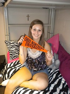 Freshman move in at Ohio Northern University - Park Dorm - August 2015