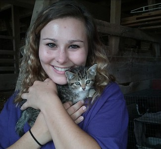 Found the barn kitty at Marmon Valley Farm in Zanesfield, OH - September 9, 2017