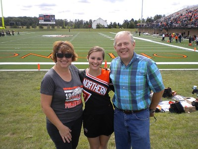 First game of the year as a college cheerleader at Ohio Northern University - September 12, 2015