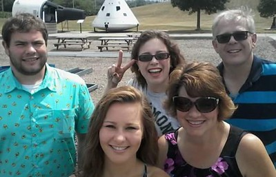 Family Time at the Neal Armstrong Space Museum in Wapakoneta, OH July 22, 2016