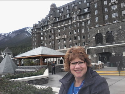 Banff, Alberta Canada - outside of the Fairmount after enjoying high tea - September 19, 2017