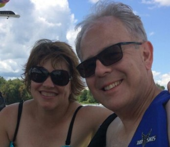 A day at Blue Lake in Indiana on our friends' boat - August 12, 2017