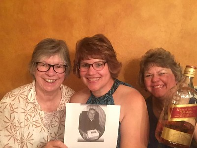 Margie, Fran, and Aunt Lou on the 7th anniversary of Frank Schultz's death - September 11, 2017