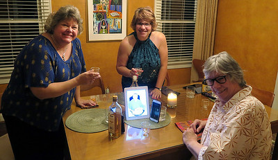 Margie, Fran, and Lucy on the 7th anniversary of Frank Schultz's death - September 11, 2017