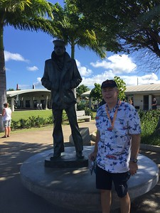 John by the Lone Sailor statue - 11/11/2018
