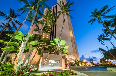 November 10, 2018  - luxury hotel, the Prince Waikiki