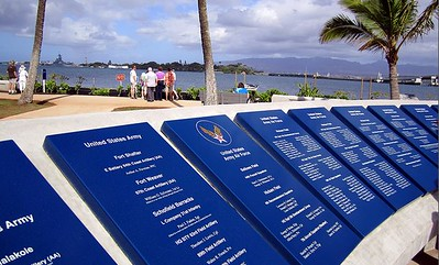 Military unit memorial plaques