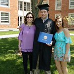 Allison, John Robert, Elizabeth - JCU graduation May 22, 2016