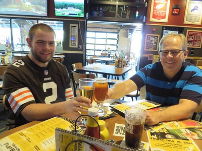21st Birthday and celebrating with Dad and a beer at BW3 in St. Clair Shores, MI - June 8, 2014
