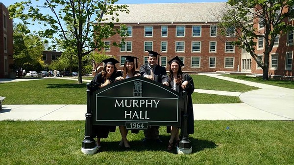 JCU Graduation -- May 22, 2016 -- outside Murphy Hall with friends