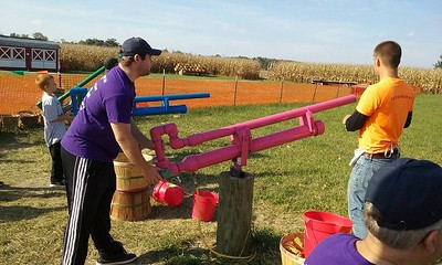 Corn Cannon at Suter's Corn Maze in Pandora, OH - October 15, 2016