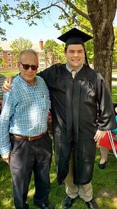 JCU Graduation May 22, 2016 -- John Robert and Dr. Bloom