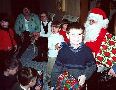 girls, boys, and Santa