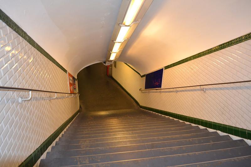 Paris Subway Stairs