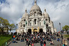 Crowd on the steps of Sacre Coeur