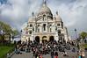 Crowd on the steps of Sacre Coeur