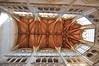 Eglise de la Trinité in Falaise - the chestnut ceiling