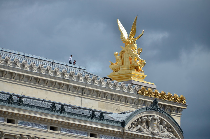 Angel on top right corner of Opera Garnier