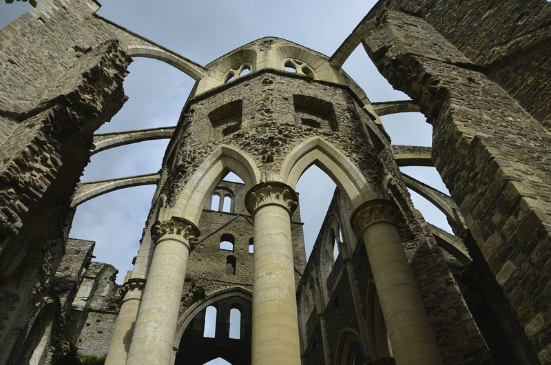 Apse end of Abbaye de Hambye with buttresses
