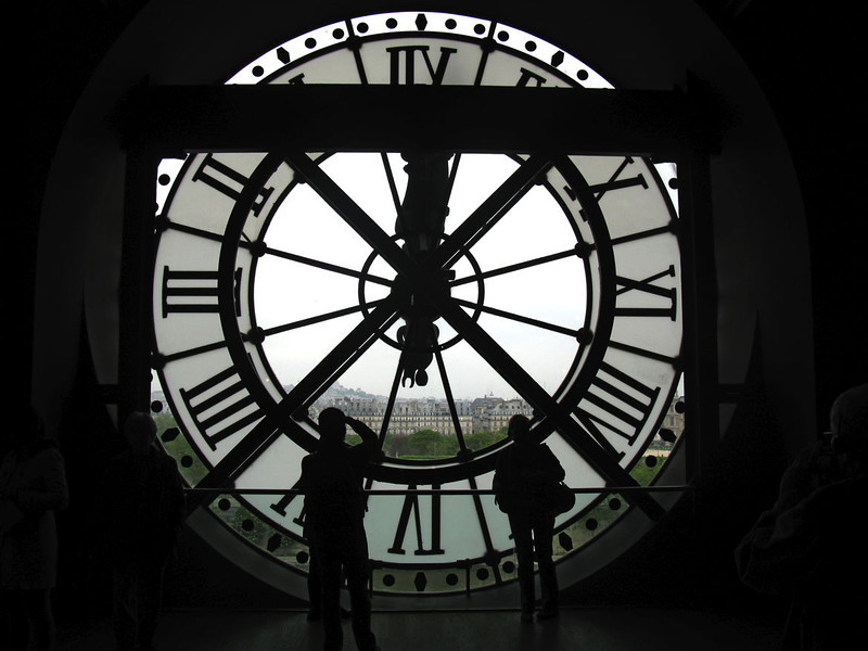 Big clock from inside Musée D'Orsay