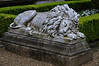 Napping lion in the courtyard of Jacquemart-André Museum