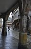 Half-timbered arcade in Dinan