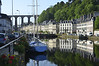 Reflections in the river at entry to Morlaix