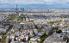 Tour Eiffel and Eglise du Dome viewed from Tour Montparnasse