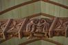 Lampaul-Guimiliau: Detail of carved beam