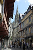 Another street scene in Quimper, plus the cathedral spire