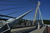 South pylon of the Pont de Térénez from pedestrian walkway