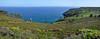 Panorama of the sea east of the Cap de la Chévre peninsula