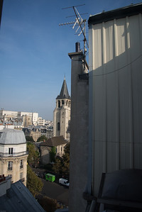 View from our room of the Abbey of Saint-Germain-des-Prés