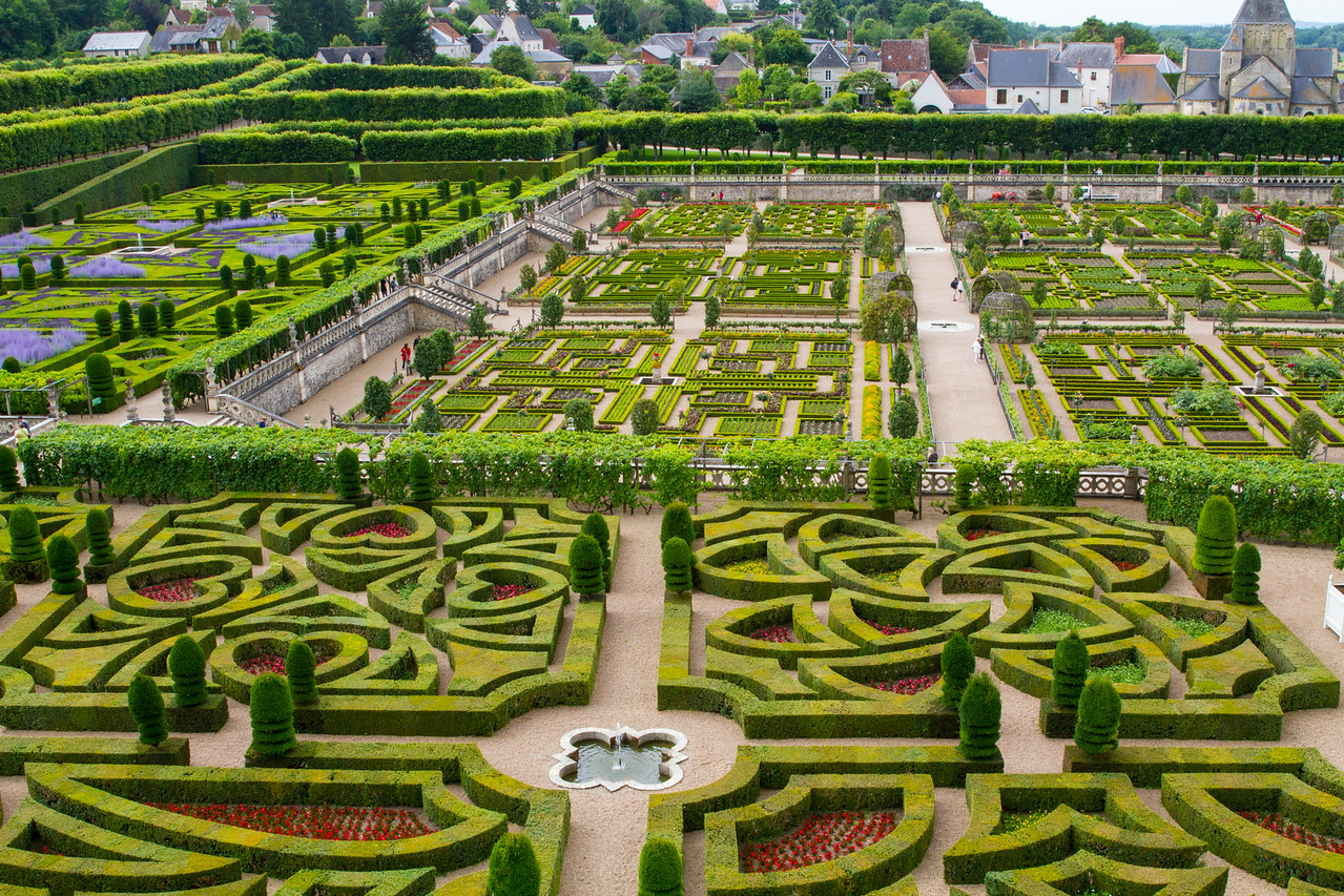 Villandry Love Gardens, Kitchen Garden, and Lavender