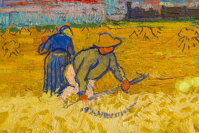 Van Gogh The Harvesters (partial close up)