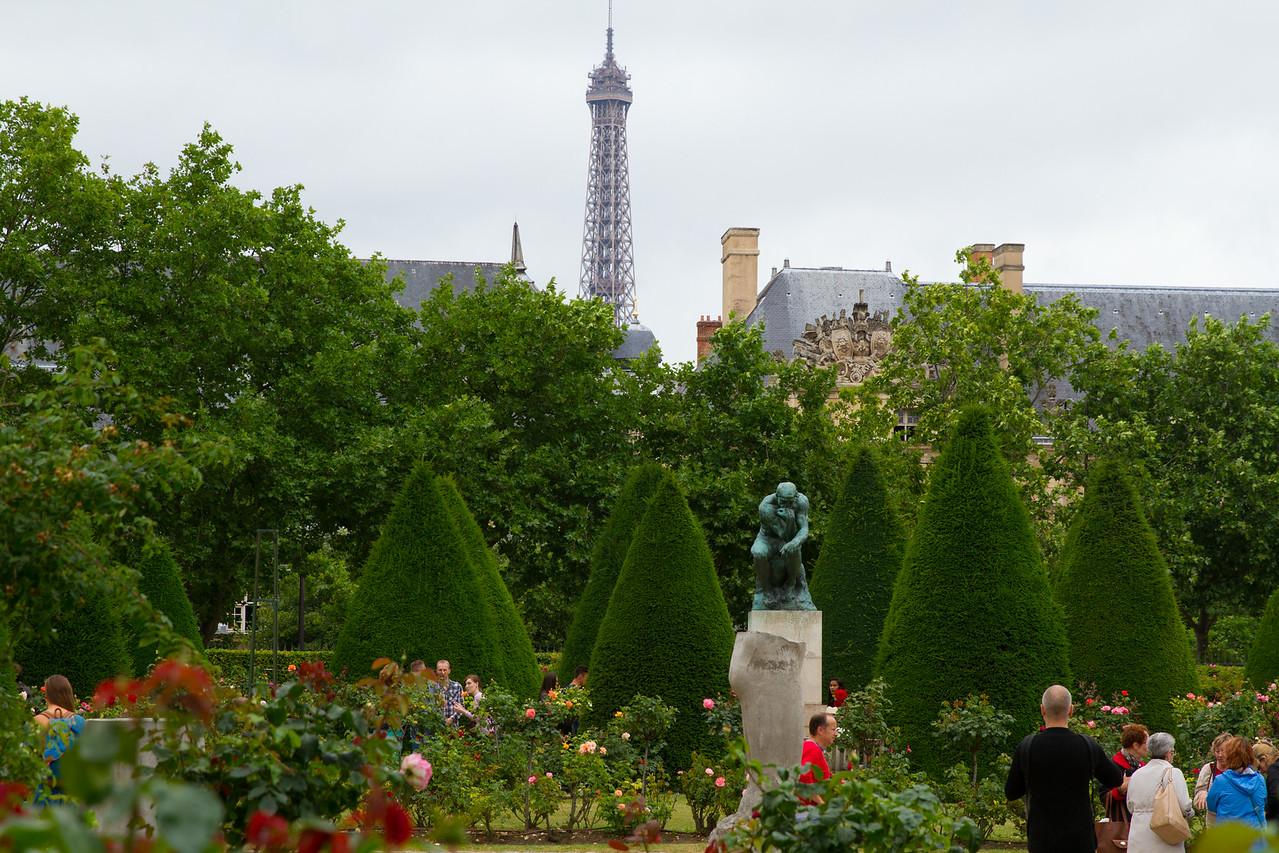 Rodin Garden w Eiffel Tower in Background
