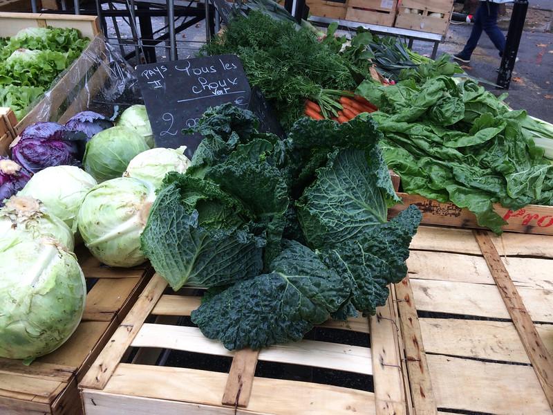 Produce at the farmer's market in Arles