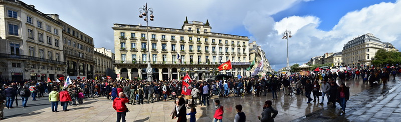 May Day Parade in Front of the Intercontinental Hotel, Bordeaux