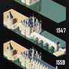 Evolution of the Chateau de Chenonceau