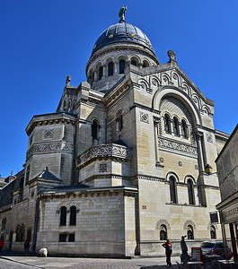 Exterior View of the Cathedral Saint Martin de Tours