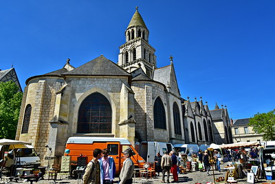 Poitiers, France Market Day